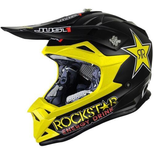 JUST1 J32 Rockstar Racing Sports Motocross ATV MX Enduro Off Road Helmet