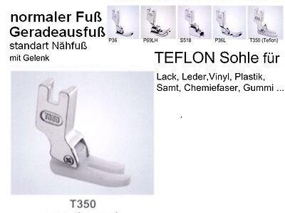 Antihaftfuß mit TEFLON- sohle für Lederarbeiten +  Lack  > Freihaus