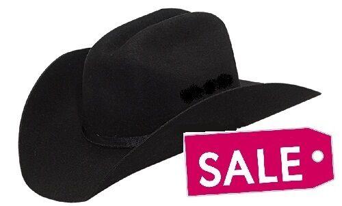 G Strait Rancher **Close-Out!** BLACK ~ Wool FELT HAT ~ Western Cowboy