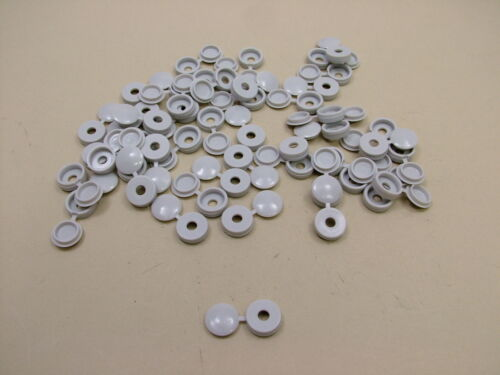 pack of 50 Screw covers screw caps hinged,light grey to fit no.6 /& no.8 screws