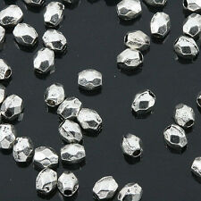 Tibetan Silver color mini irregular  faceted spacer beads 400pcs EF0158