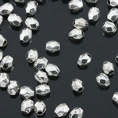 100pcs Tibetan Silver Columniform Spacer Beads H2784