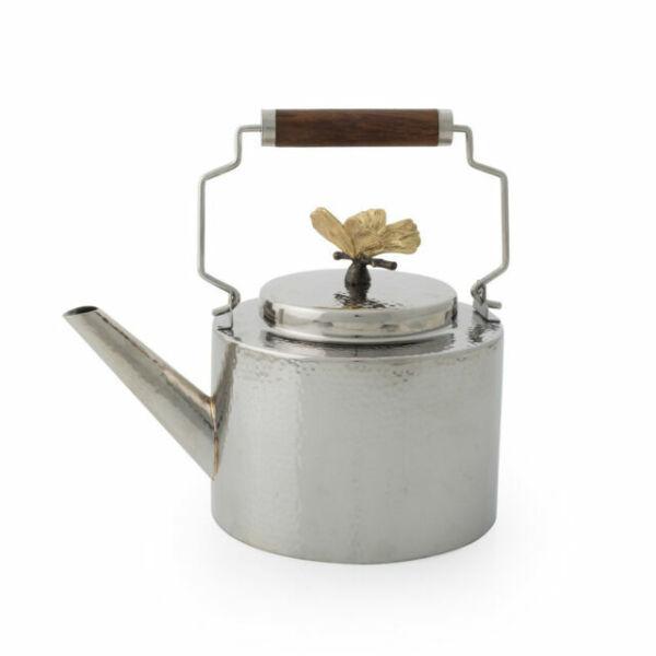Michael Aram Butterfly Ginkgo Stainless Steel Round 56oz Teapot 175748
