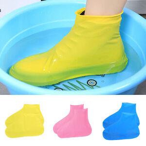 Reusable Waterproof Shoe Cover Anti-slip Rain Boot Overshoe Cycling Hiking Bike