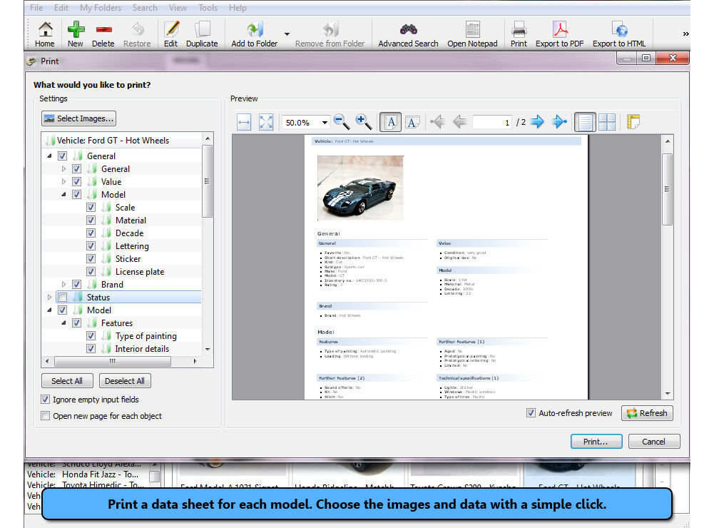 Stecotec Model Car Collector Pro Inventory Software For Your