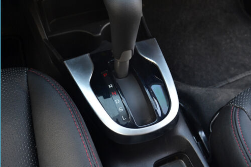 Chrome Silver Gear box panel decoration trim 1pcs For Honda FIT JAZZ 2014 2015