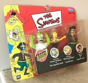 Playmates-The-Simpsons-Halloween-3-Pack-Homer-Apu-Edna-Bongo-Comics-Toy-Figures