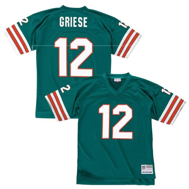1391a9ef Mitchell & Ness Bob Griese Miami Dolphins Aqua Retired Player ...