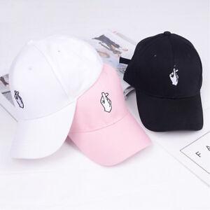 Heart Gesture Unisex Adjuseable Peaked Cap Baseball Hat Love Finger Cap