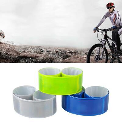 New Saferty Cycling Bicycle Arm Leg Reflective Band Strap Belt Safety Reflector