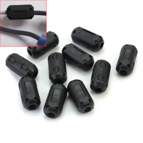 Clip-on RFI EMI Core Filter Ferrite Ferrites For 3.5mm Cable x 10