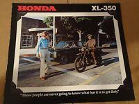 1978 Honda XL350 Motorcycle Sales Brochure - Literature