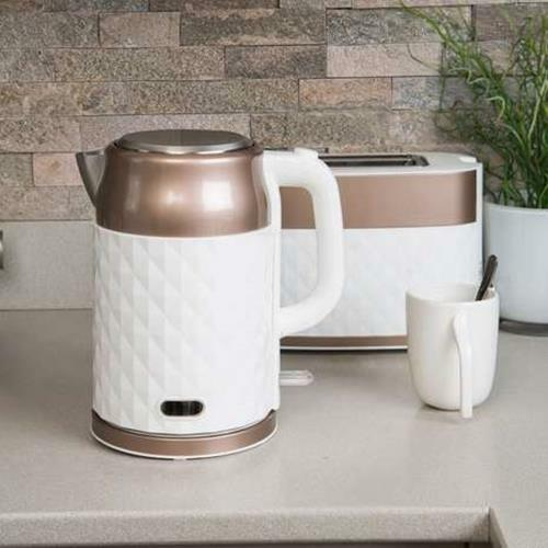 Prestige Prism pink gold Kettle And Toaster Set Stylish Set Kitchen Breakfast UK