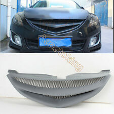 Unpainted Front Grille Black Mesh Grill Fit for Mazda 6 Pre-Facelift 2009-2011