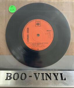 "LEONARD COHEN - McCABE & MRS MILLER RARE   7"" VINYL RECORD EX+"