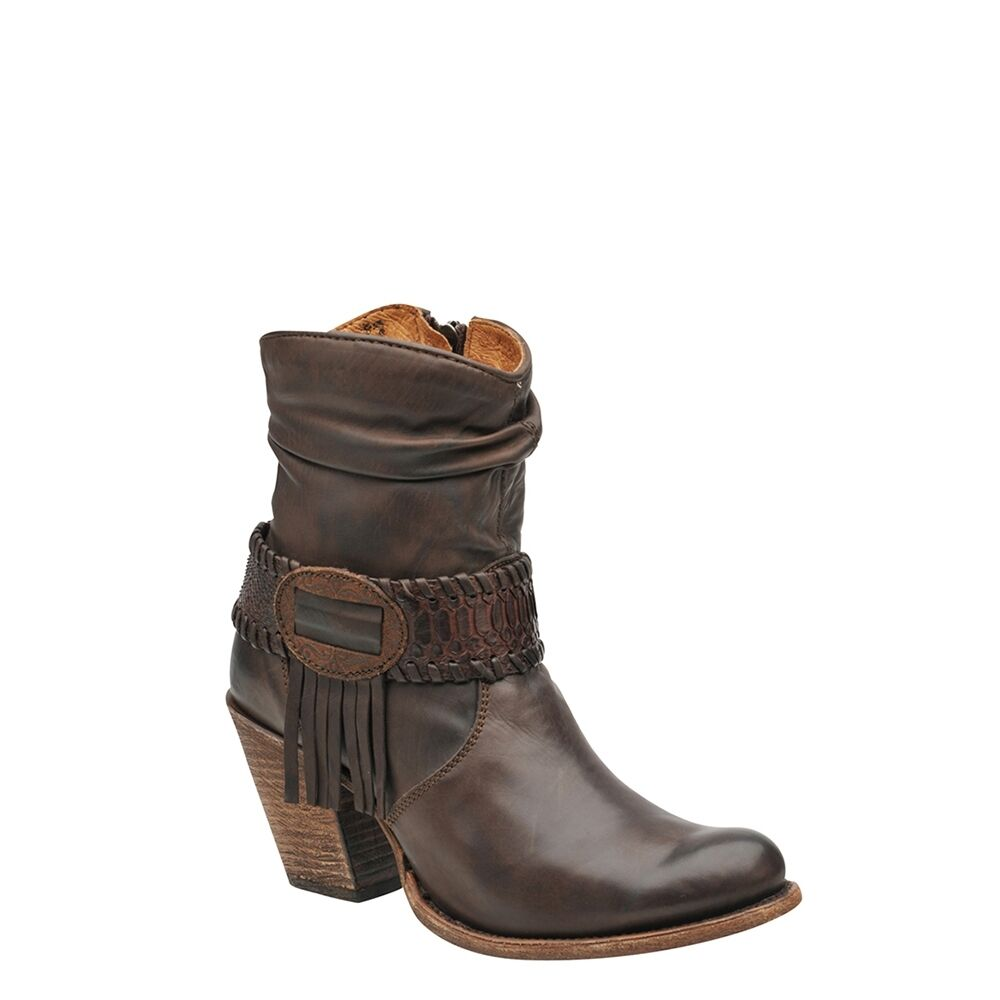 1Z57NP  Bootie Calf & Python Western Western Western Boots by Cuadra Boots 9d5134