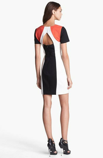 NWT Rebecca Minkoff Romulan Ponte Sheath Dress Red Combo Combo Combo  328 – 6 8a9769