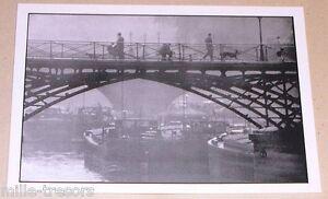 Carte-Postale-Photo-Frank-HORVAT-PARIS-Pont-des-Arts-1956