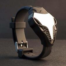 LED Digital Reloj Hombre Silicona Cobra Triángulo De Hierro Esfera Sport