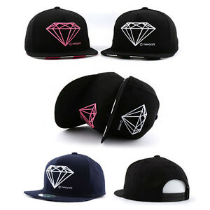 bfb202f3cd3f81 Das Bild wird geladen gross-Diamant-Herren-Damen-Basecap-Muetze-Baseball-Cap -