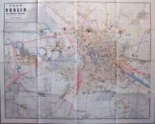 Plan von Berlin mit nächster Umgebung 1878 Stadtplan Adressbuch Beilage Graphik
