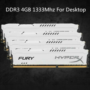 Pour-4-Go-8-Go-16-Go-Kingston-HyperX-PC3-10600-DDR3-1333-MHz-blanc-RAM-de-bureau