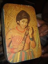 INDIA RARE - EMPTY TIN BOX WITH SOUTH INDIAN FILM STAR