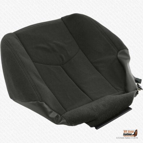 2003-2007 Fits GMC Sierra 1500 1500HD Driver Bottom Dark Gray Cloth Seat Cover