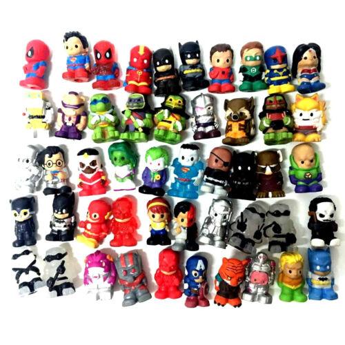 "Random 10X Ooshies DC Comics//Marvel//TMNT 1.5/"" Spiderman Batman Ironman Figures"