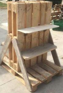 Scaffali Con Pallet.Dettagli Su Modulo Espositore Scaffale Realizzato Con Bancali 80x120 Epal Arredamento