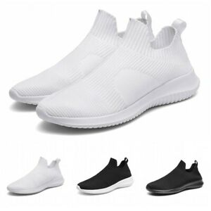 Mens-Outdoor-Casual-Slip-On-Running-Jogging-Sneakers-Breathable-Sports-Shoes-B