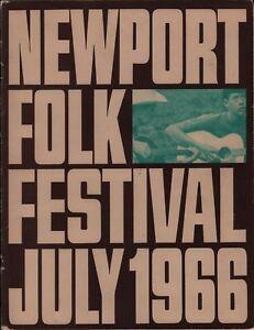 NEWPORT-1966-FOLK-FESTIVAL-PROGRAM-BOOK-FRITZ-RICHMOND-JIM-KWESKIN-SIGNED