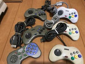 Sega-Saturn-Controller-lot-of-6-JAPAN-SS-SS10