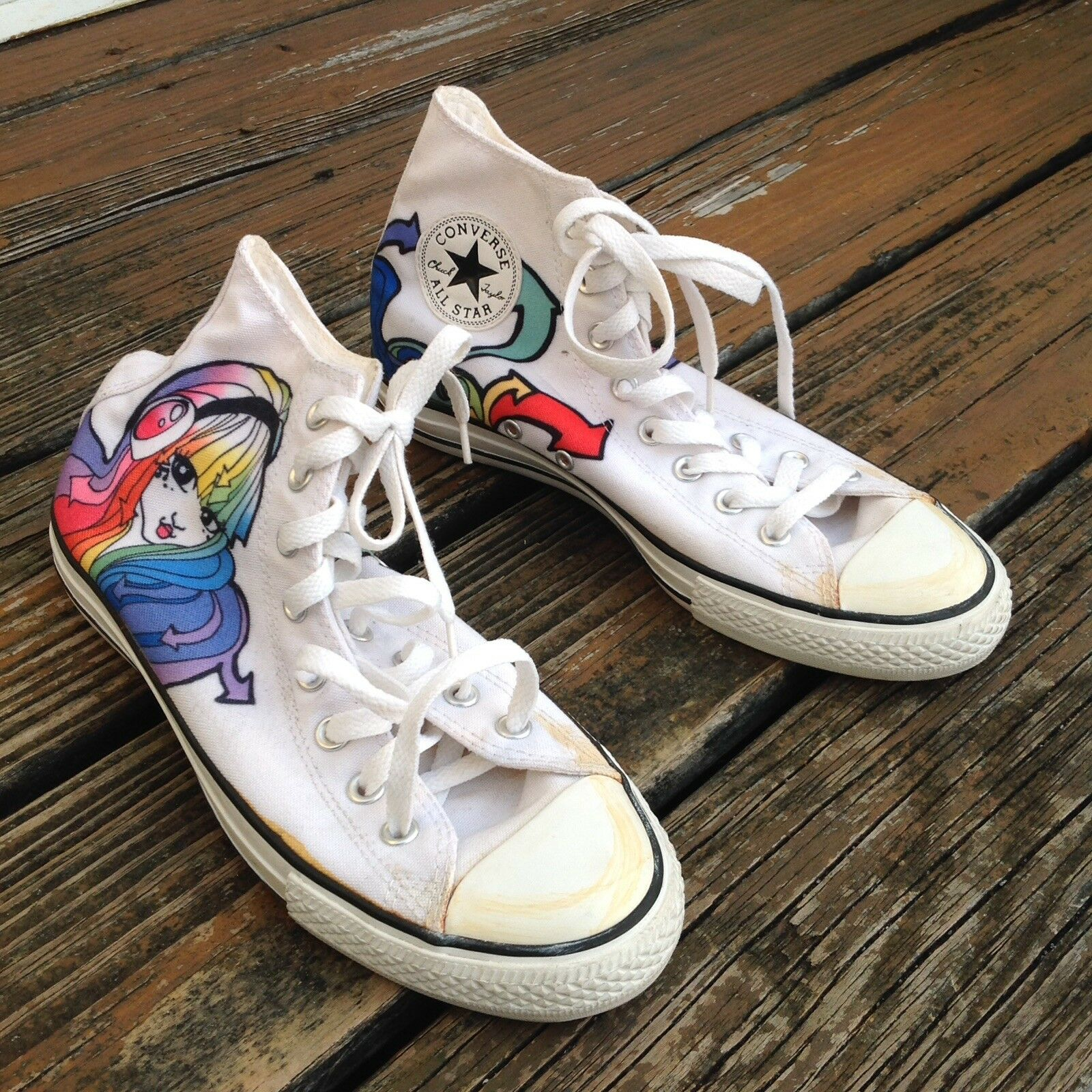Converse All Star Hi Top Rainbow Anime Sneakers Mens 8 Womens 10 EUR 41.5 shoes