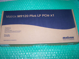 Matrox M9120 Plus LP PCIe x1 Graphics New