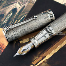 Montegrappa Two Roses Lancaster 925 Sterling Silver Fountain Pen - RARE!