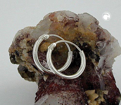Silber gestempelt 12,00 mm außen 1 Paar ECHT SILBER Creolen  925 er Sterl