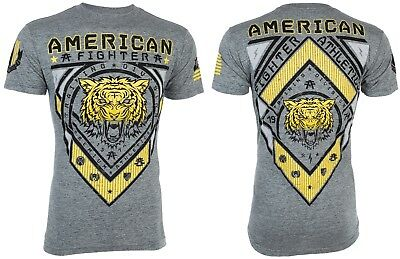 AMERICAN FIGHTER Mens Elongated T-Shirt CHESTERBROOK Tiger GREY Athletic UFC $40