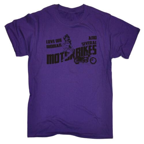 L/'amore una donna e diversi MOTO T-shirt MOTORE Maleducata Divertente Regalo Di Compleanno