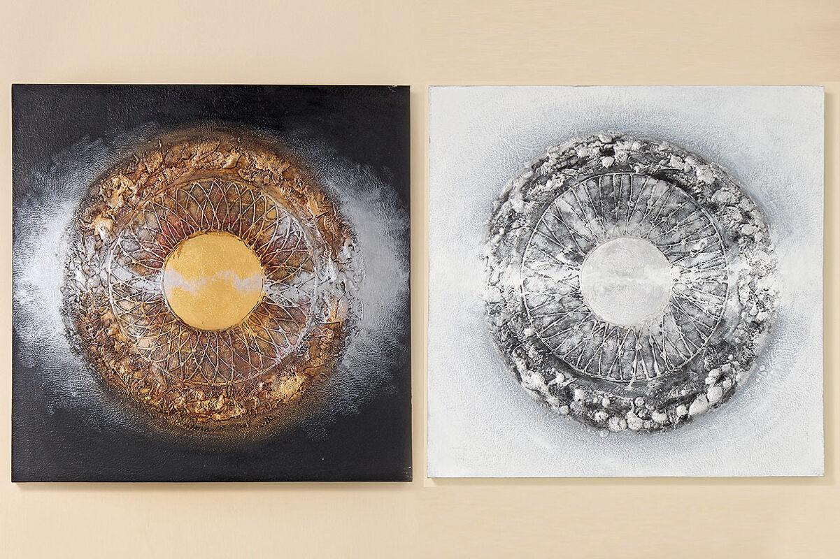 Bild Lania Leinwand auf Holzrahmen 100x100 cm (222000) Gemälde Sonderpreis