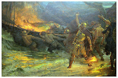 Photo/Poster - Funeral Of Viking - Frank Dicksee 1853 1928