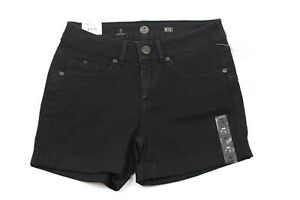 So Juniors Denim Shorts Black Midi Stretch Roll Cuff Size 5 Clothing, Shoes & Accessories Shorts