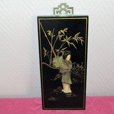 Antik Tafel Chinesisch Holz Lackiert Intarsien Perlmutt Stein Hart Dekoration üBerlegene Leistung