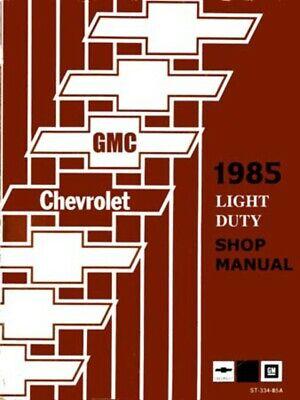 research.unir.net 1985 Chevrolet GMC Truck Van Chassis Suburban ...