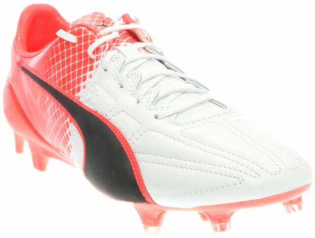 Puma EvoSPEED 1.5 Leather Firm Ground Cleats  Casual Soccer  Cleats Red Mens -