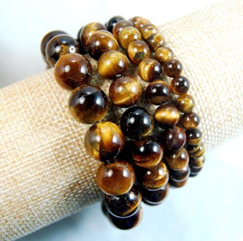 Handmade Colorful Tiger/'s Eye Gemstone Round Beads Stretchy Bracelet AAA