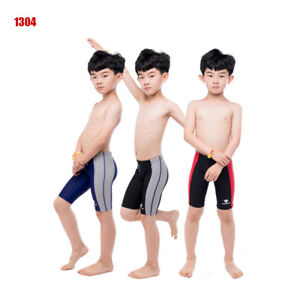 445e0485dd Image is loading HXBY-Boys-Swimwear-Kids-Racing-Training-Jammers-Swimming-