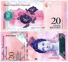 VENEZUELA Billet 20 BOLIVARES 2014  P91  TORTUE / LUISA DE ARISMENDI UNC NEUF
