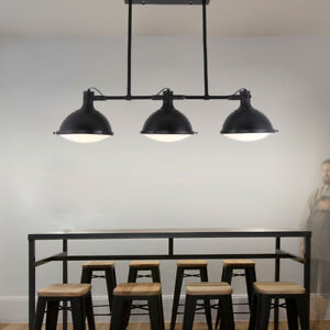 Details About Pendant Lights Contemporary Black Metal Farmhouse Kitchen Island Hanging Lamp