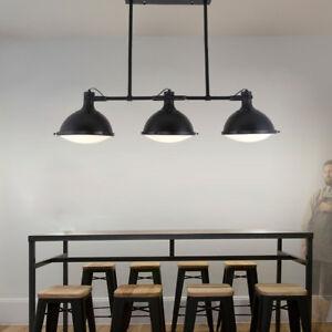 hot sale online 051fe 62052 Details about Pendant Lights Contemporary Black Metal Farmhouse Kitchen  Island Hanging Lamp